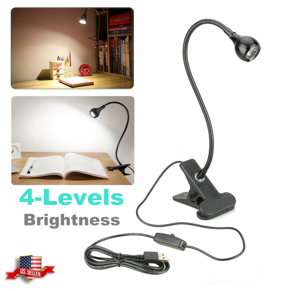 Details About Usb Reading Light Flexible Led Lamp Laptop Computer Clip On Bed Desk Table
