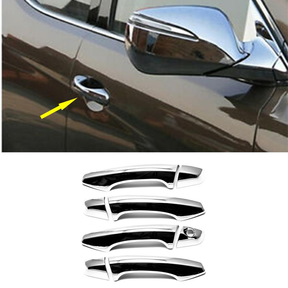 Chrome Door Handle Bowl Cup Cover  For Hyundai Santa Fe 2013 2014 Free shipping