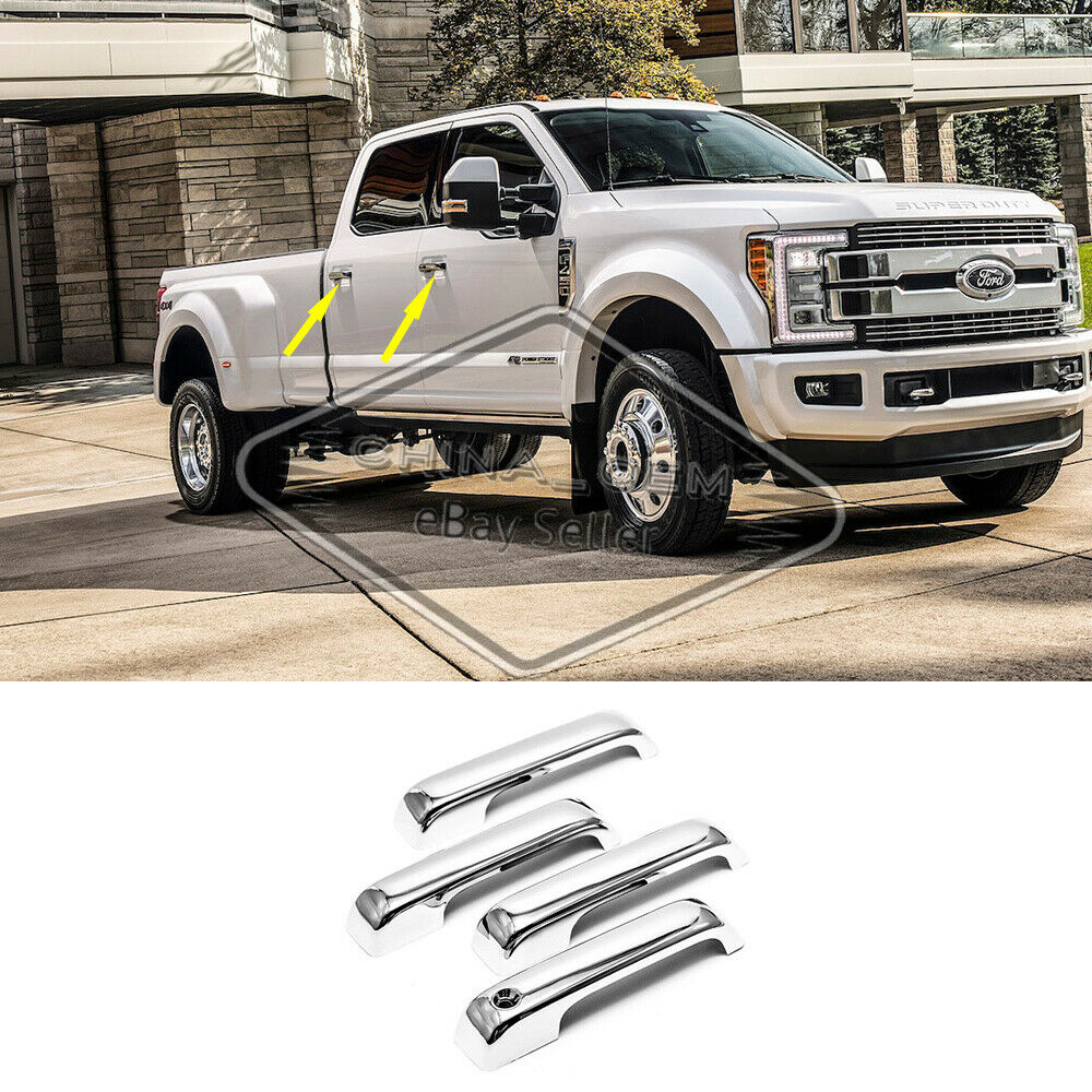 Sizver Chrome Door Handle Cover For 2015-2017 Ford F150//2017-2018 F250HD//F350HD