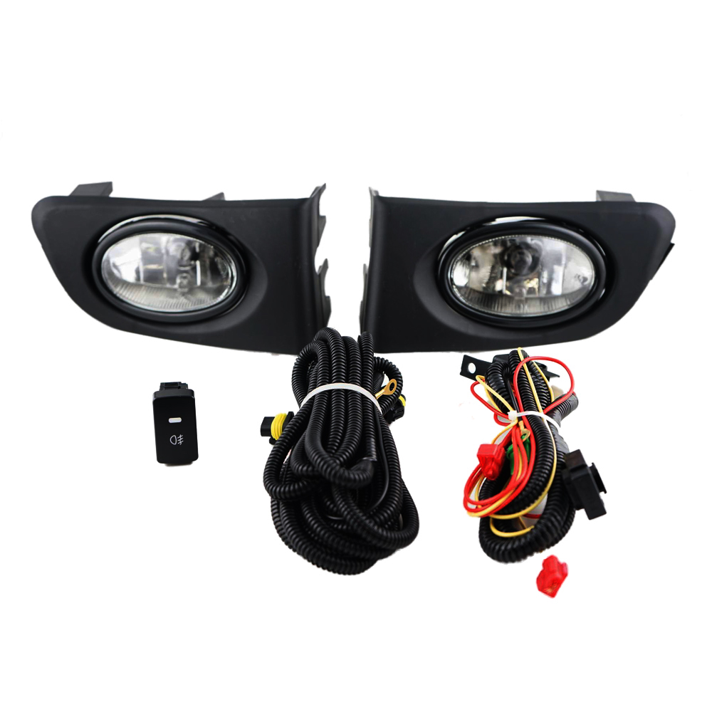For Honda Civic 2001 2002 Clear Fog Lights Drl Lamps