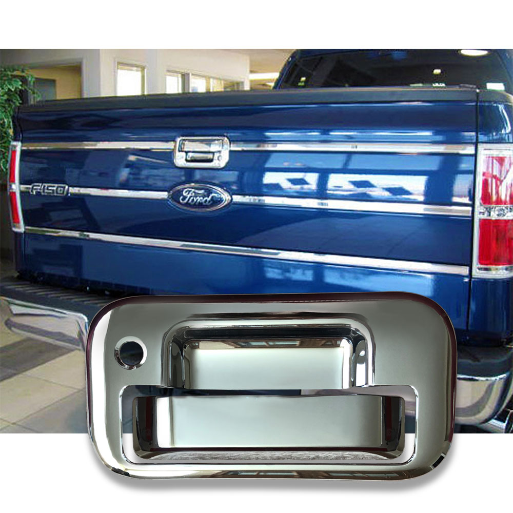 Fit 2007-2010 2011 2012 2013 Chevrolet Tahoe Chrome Lower Tailgate Handle Cover