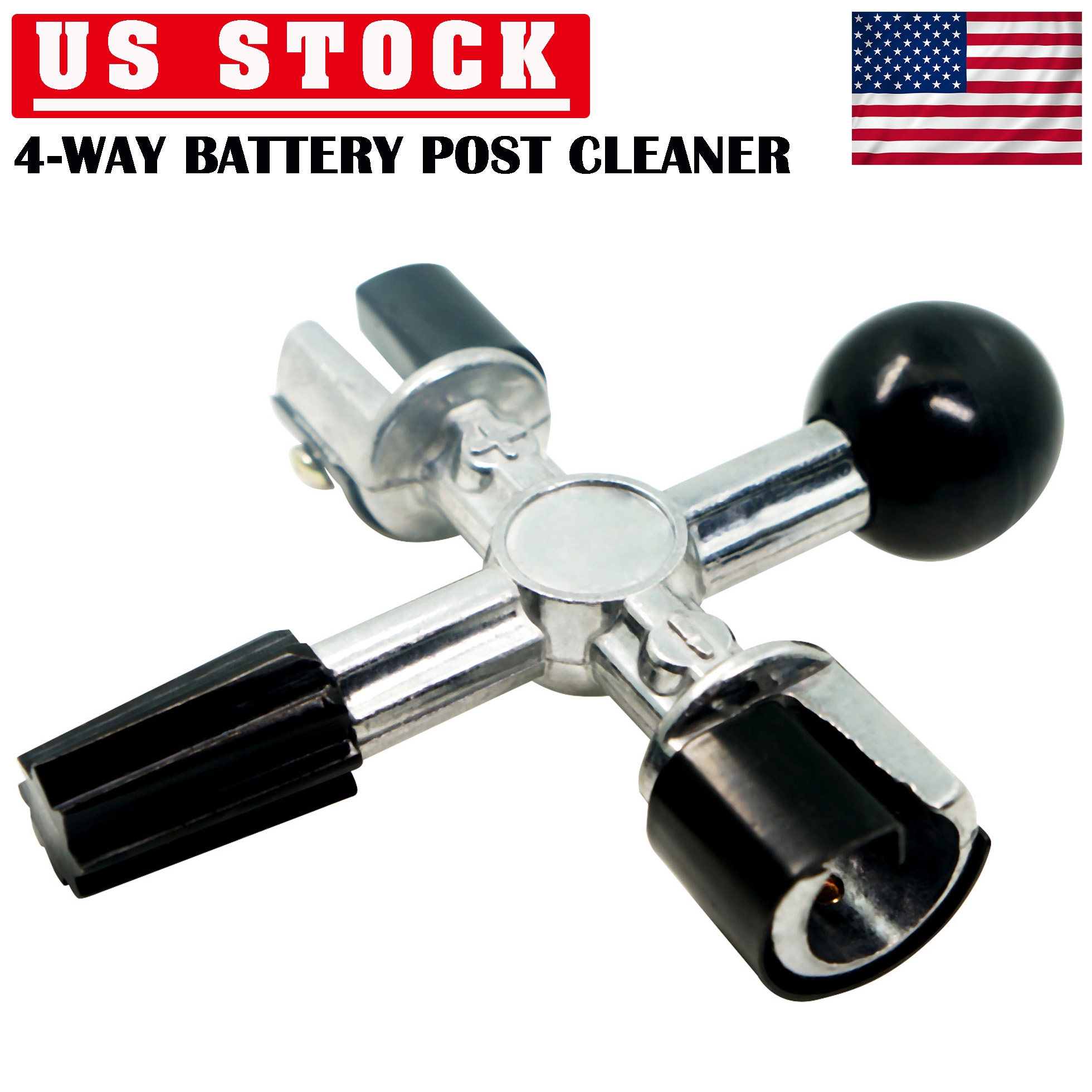 Details About 4 Way Car Battery Post Terminal Cleaner Dirt And Corrosion Cleaning Tool Durable