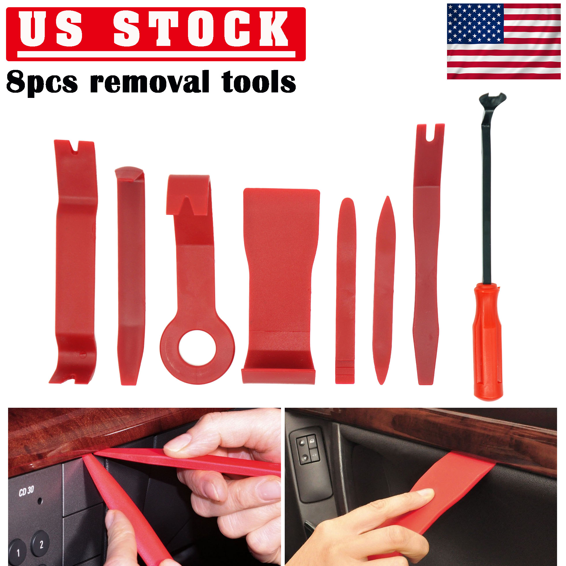 Details about 8Pcs Auto Car Removal Trim Tool Door Panel Molding Upholstery  Clips Kit Set New