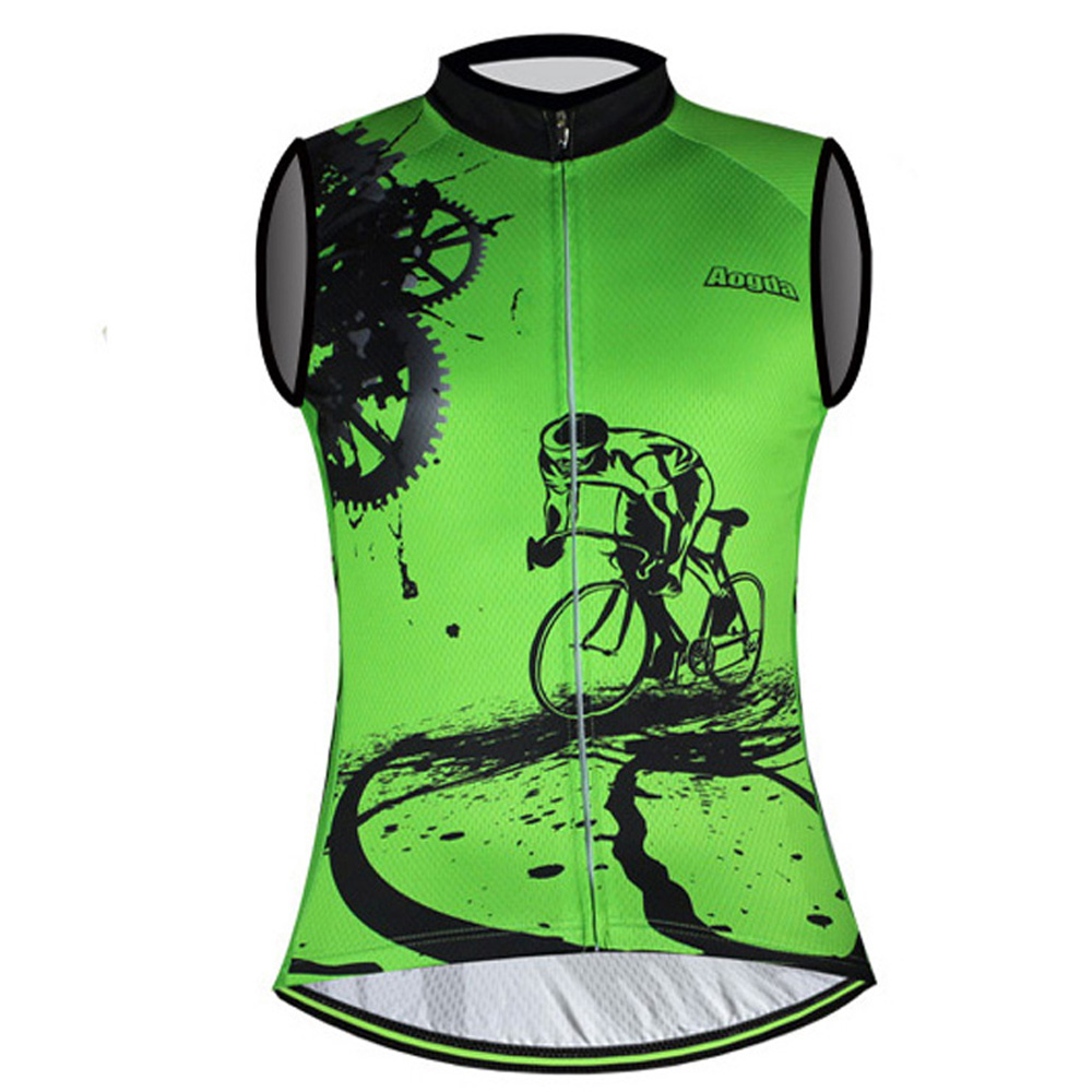 06580efc5 Men s Sleeveless Cycling Jersey Top Reflective Bicycle Bike Cycle Vest S-5XL