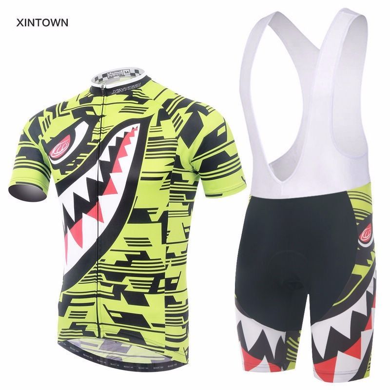 Shorts Kit S-5XL Men/'s Bicycle Clothes Set Novelty Cycling Jersey /& Padded Bib