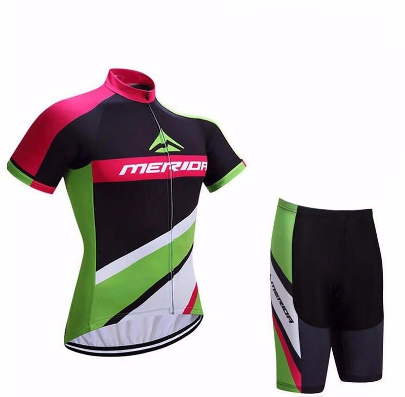 2020 Merida Bicycle Clothing Set Cycling Jersey and Bib Shorts Gel Padded Kit