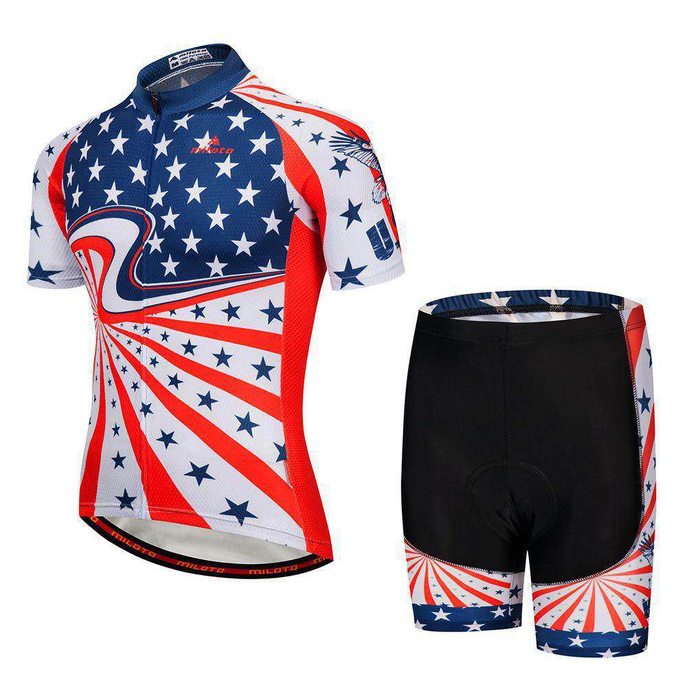 Details about USA Team Cycling Kit Men s Bike Bicycle Jersey and Padded  Shorts Bib Shorts Set ffa2c1a08