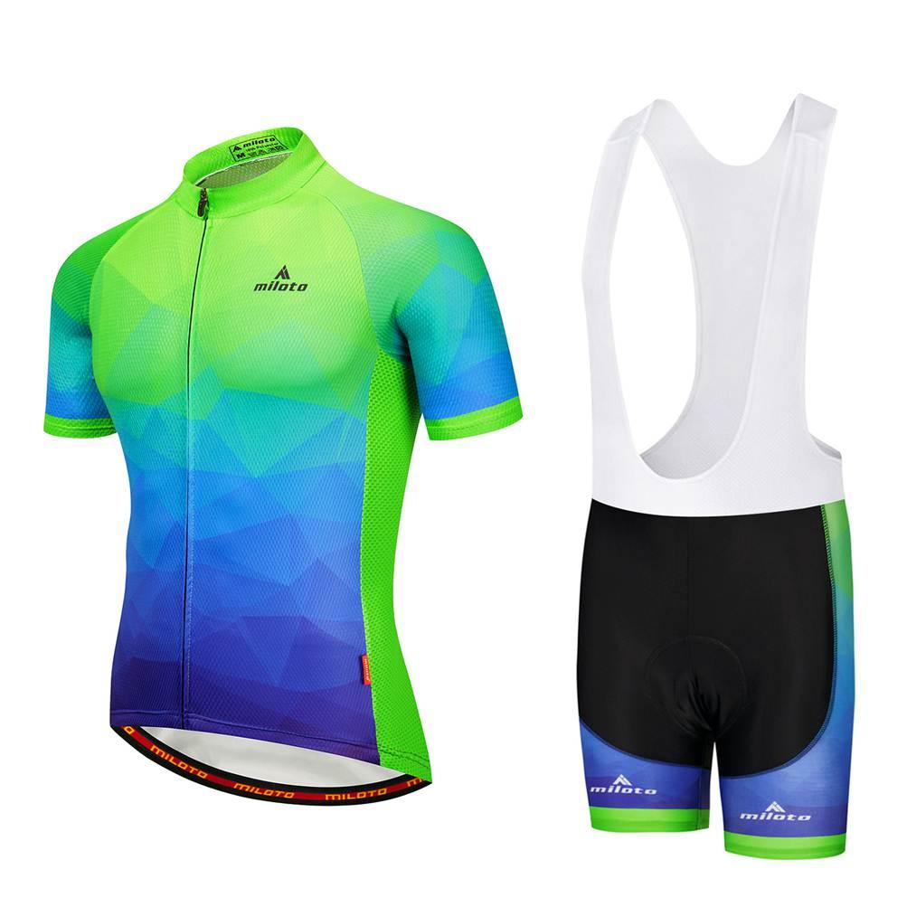 Men/'s Bike Clothing Long Sleeve Cycling Jersey and Cycle Long Bib Pants S-5XL