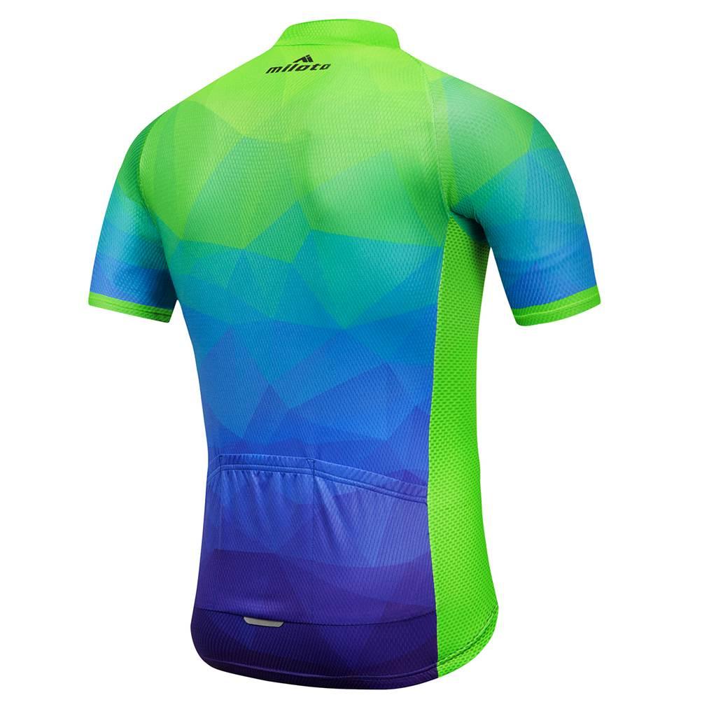 Men/'s Reflective Cycling Jersey Top Short Sleeve Bike Bicycle Coolmax Shirt