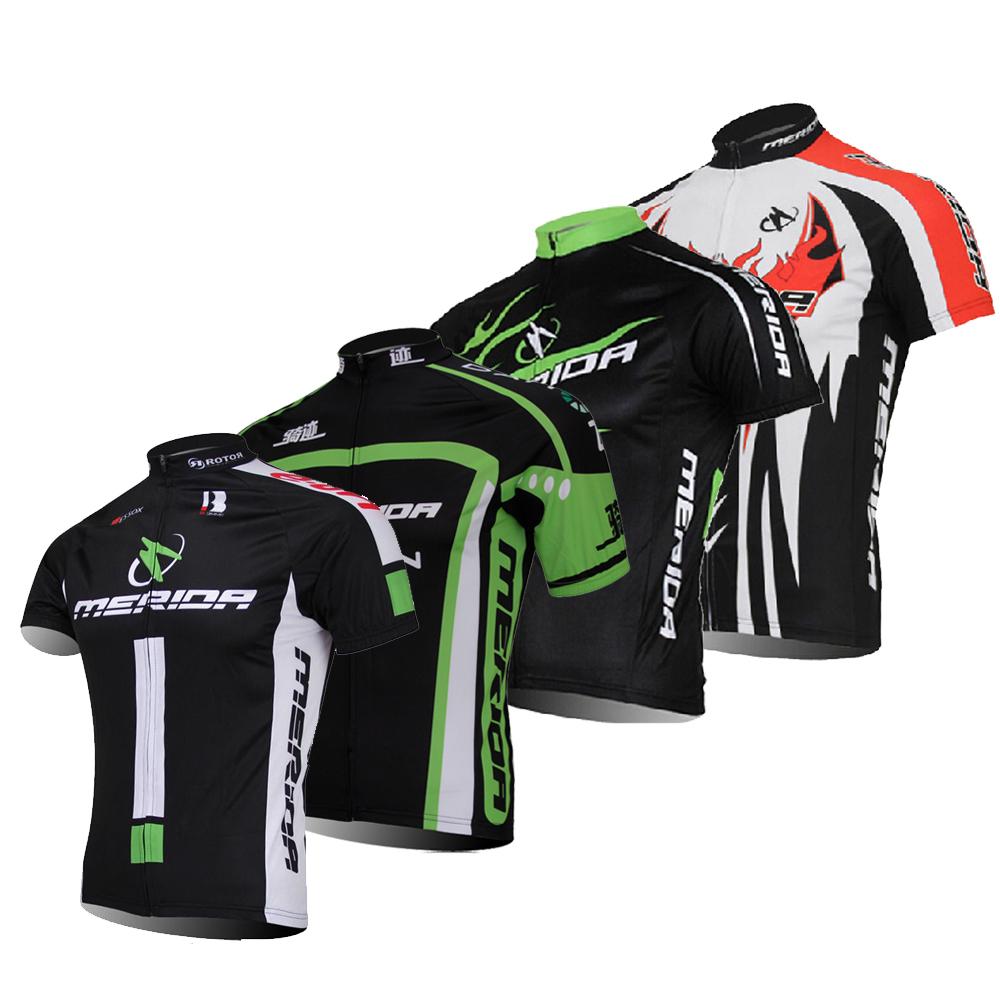 New Merida Bike Bicycle Shirt Jersey Full Zip Biking Cycling Short Jersey S-5XL