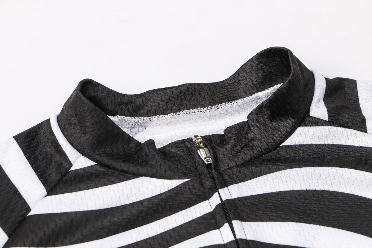 Reflektierende Herren Radsport Trikot Zebra Streifen Fahrradtrikot T-Shirt S-5XL