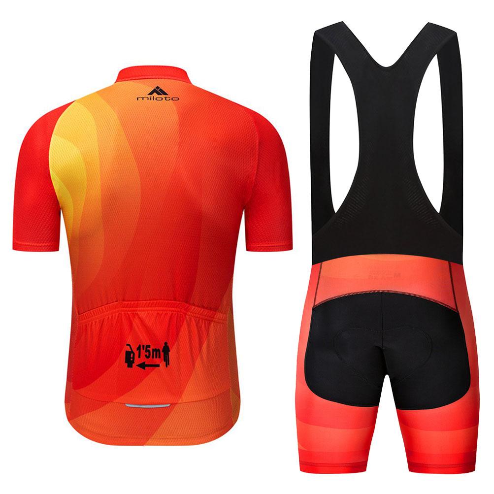 2020 Miloto Men/'s Cycling Short Set Bike Cycle Jersey /& Padded Shorts Kit S-5XL