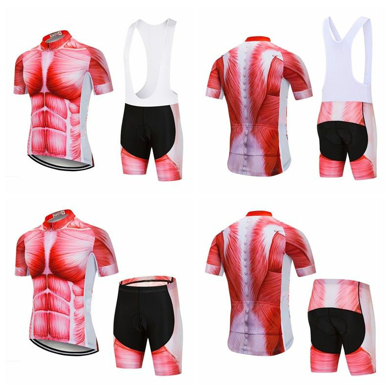 Shorts Coolmax Cycling Gear Kit S-5XL Bib Men/'s Cycle Jersey Top /& Gel Padded