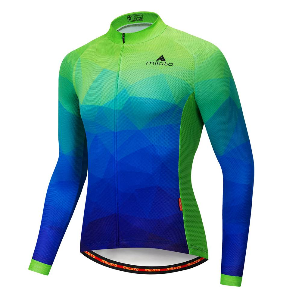 2020 Miloto Men/'s Long Sleeve Cycling Jersey Coolmax MTB Bike Cycle Jersey Top