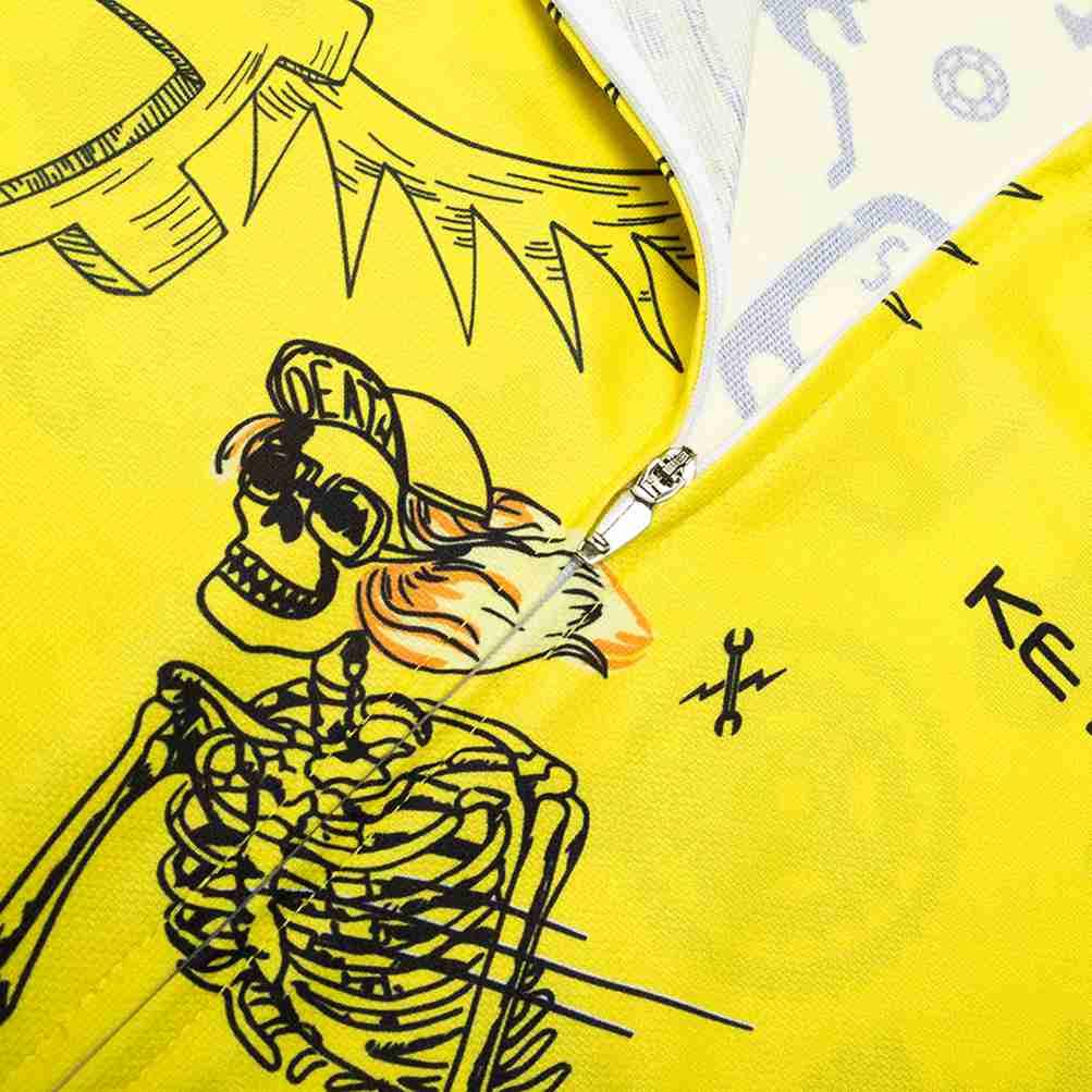 Herren Fahrradshirt Kurzarm Radtrikot mit reflektierender Reißverschlusstasche
