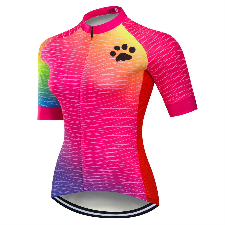 Women/'s Bike Bicycle Wear Top Reflective Biking Cycling Jersey Shirts S-5XL