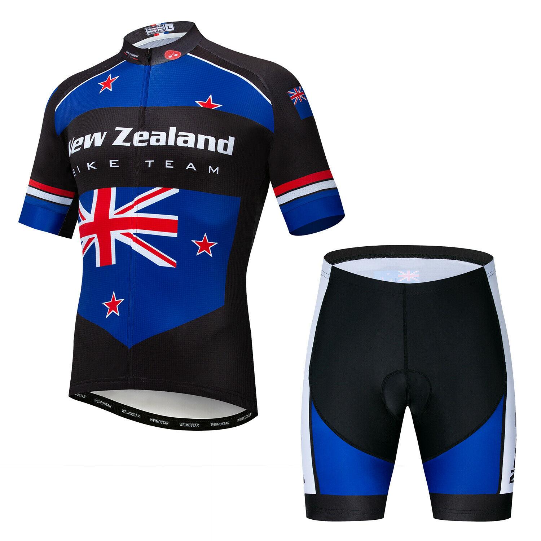 2020 Countries Team Radtrikot Set Herren Fahrradshirt Shorts Radhose Sitzpolster
