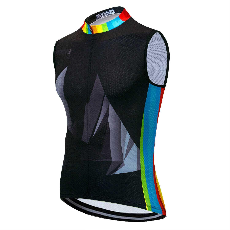 Men/'s Sleeveless Cycling Jersey Top Reflective MTB Bike Cycle Vest Shirt S-5XL