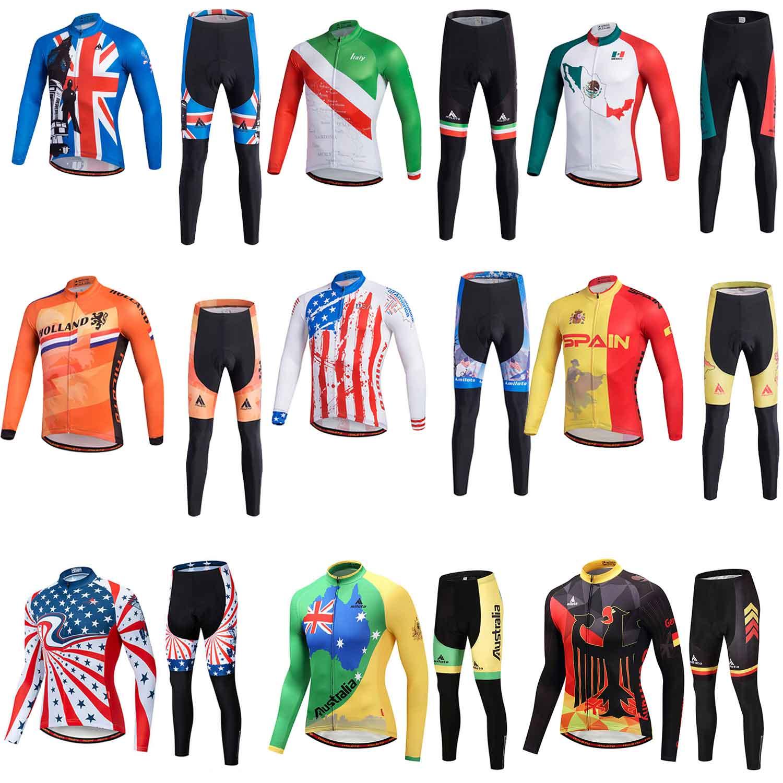 Miloto Team Cycling Kit UK Men/'s Road Bike Jersey and Bib Shorts Padded Set