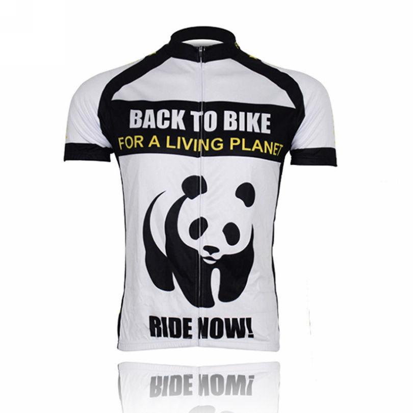 New Panda Sport Cycling Jersey Bike Bicycle Clothing Short Sleeve Jersey Top