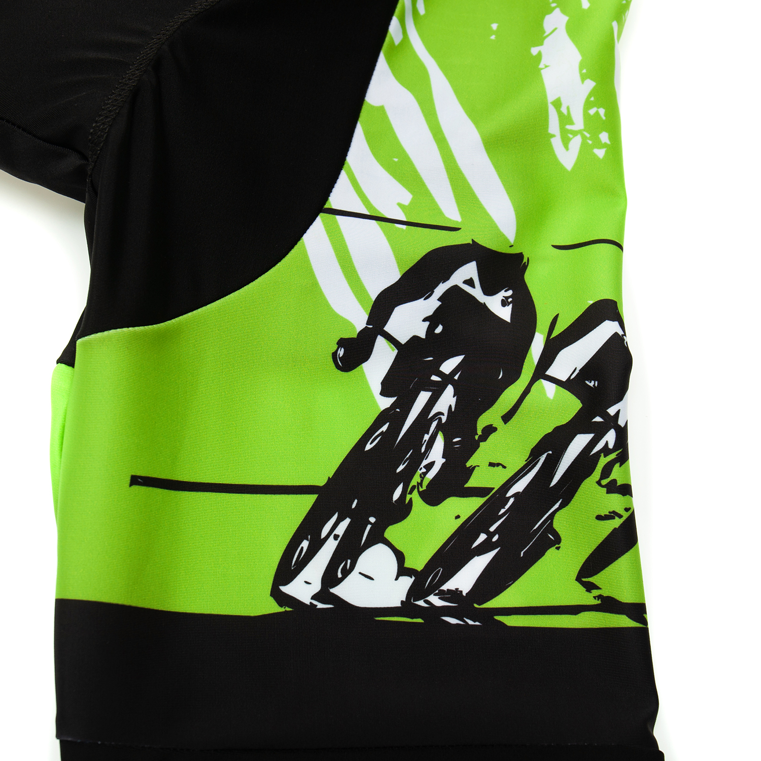 Green Men/'s Cycling Jersey Long Bib Pants Kits Long Sleeve Shirt Tights Set