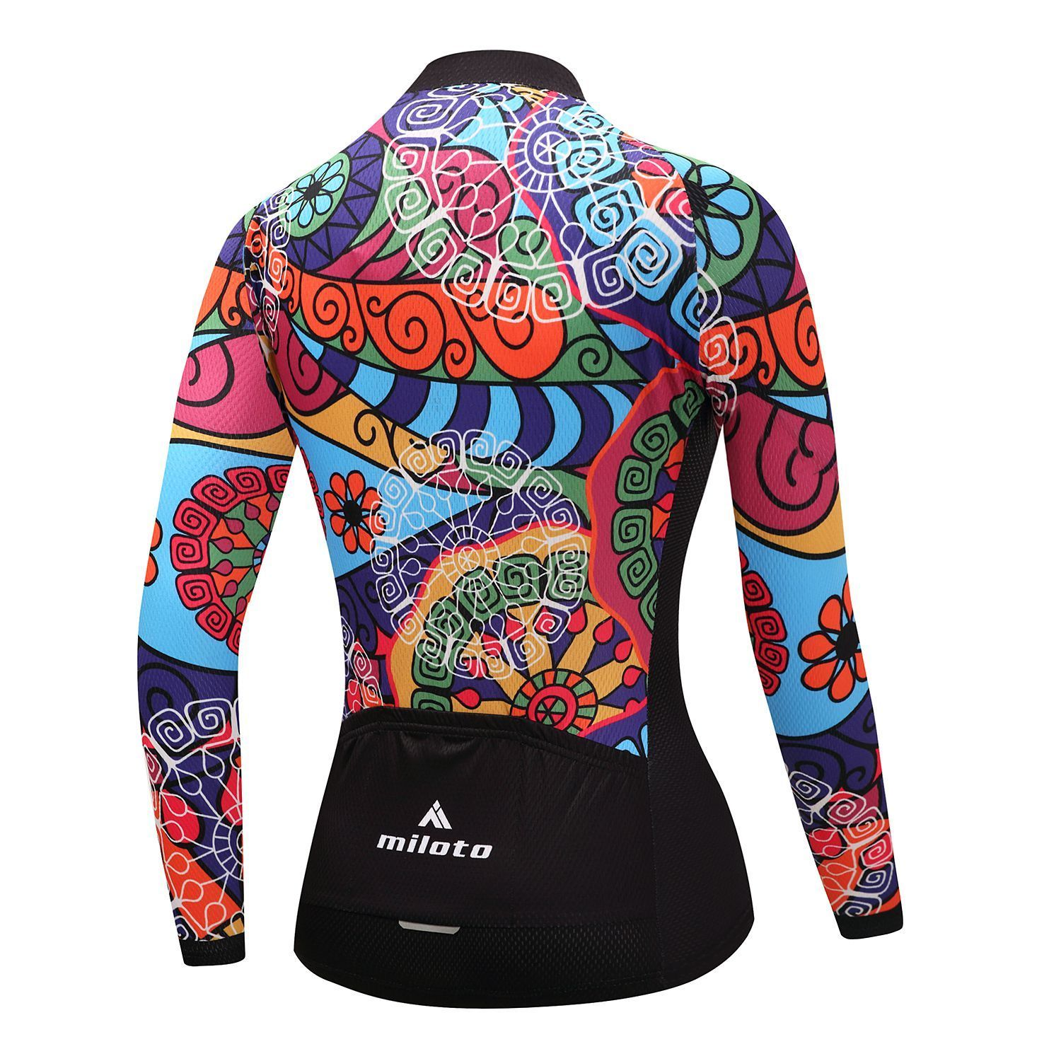 Women s Winter Fleece Cycle Jersey Long Sleeve Ladies Thermal Cycling Shirts.  Detail 183d29a1b