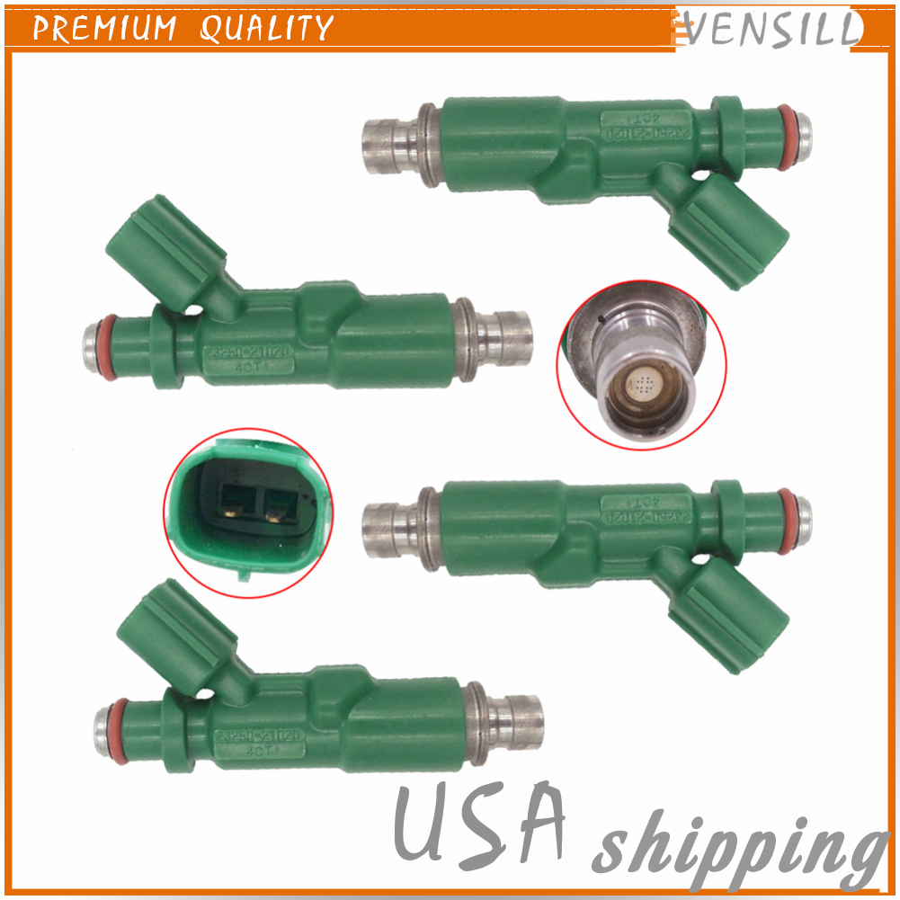 4x Denso 23250-21020 Fuel Injector Nozzle for Toyota Echo Prius Scion xA xB 1.5L