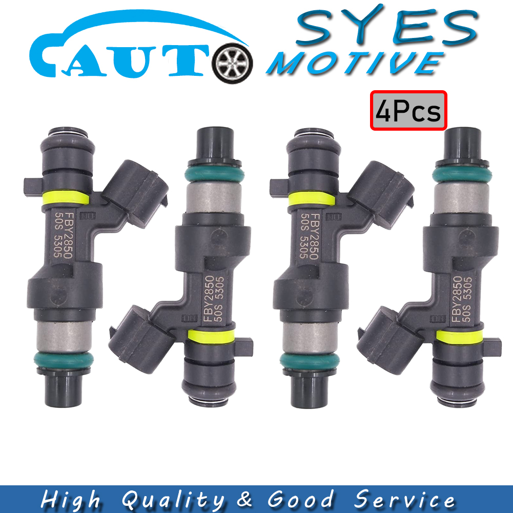 4X Fuel Injector 16600-EN200 Replacement For Nissan NV Sentra 2.0L Cube Versa 1.8L FBY2850