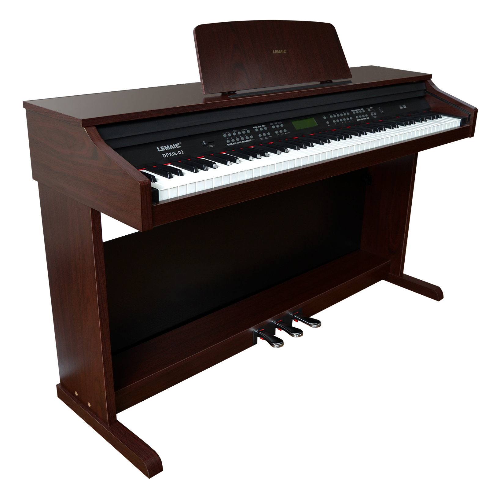 music 88 key electric digital lcd piano keyboard with stand adapter 3pedal board 711639632981 ebay. Black Bedroom Furniture Sets. Home Design Ideas