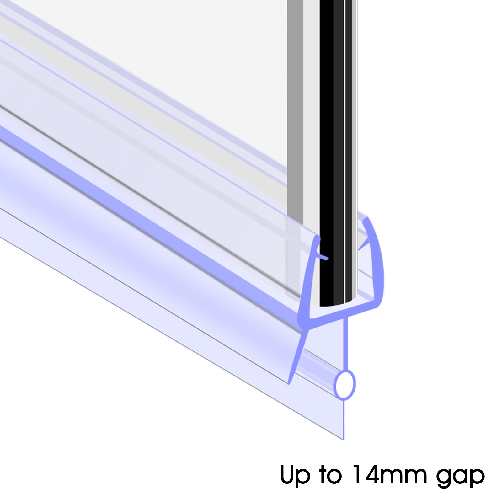 Home Furniture Diy Gap 14mm Rubber Bath Shower Screen