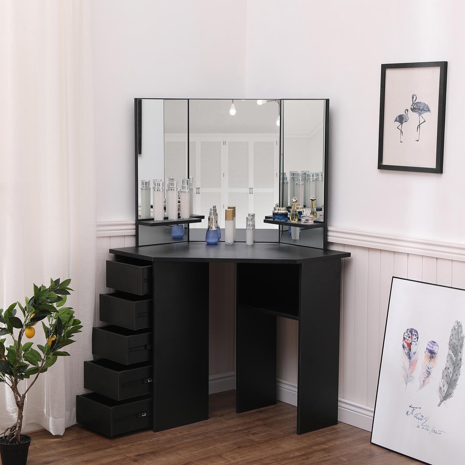 Corner Makeup Desk Saubhaya Makeup