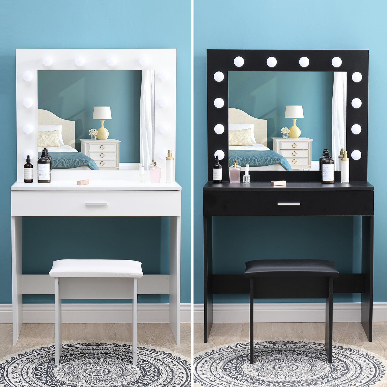 Modern Dressing Table With Led Lights