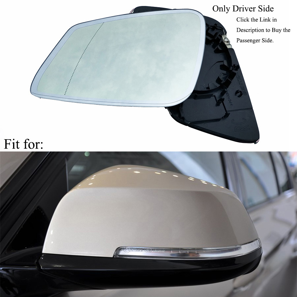 US Made Door Mirror Glass Replacement Passenger Side For Honda Fit 09-13