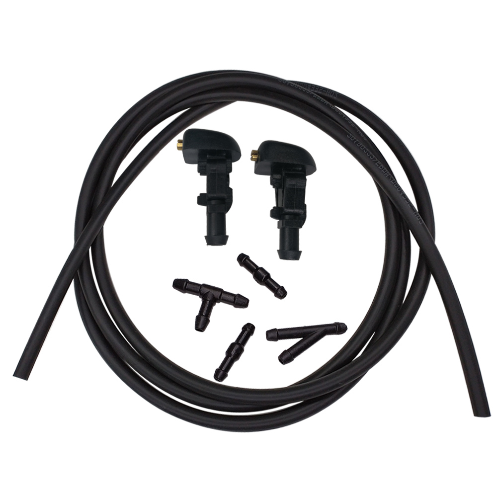 Car Windshield Washer Wiper Water Spray Nozzle Jet Kit For