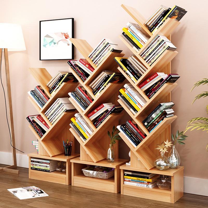 5/7/9-Shelf Tree Bookshelf Compact Book Rack Bookcase Display | eBay