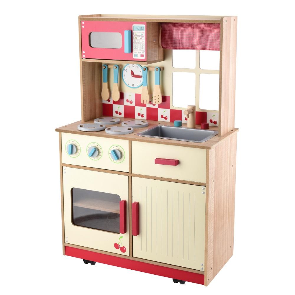 Deluxe Children Kids Wooden Kitchen Toy