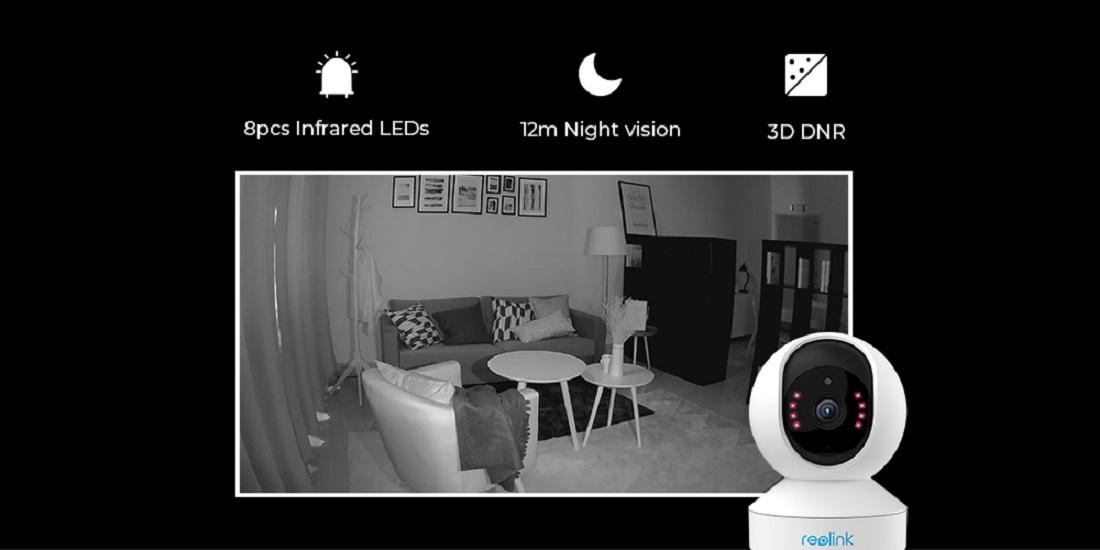 4MP PT Smart Home Security WIFI Camera Pan Tilt 2-Way Audio Reolink E1 Pro