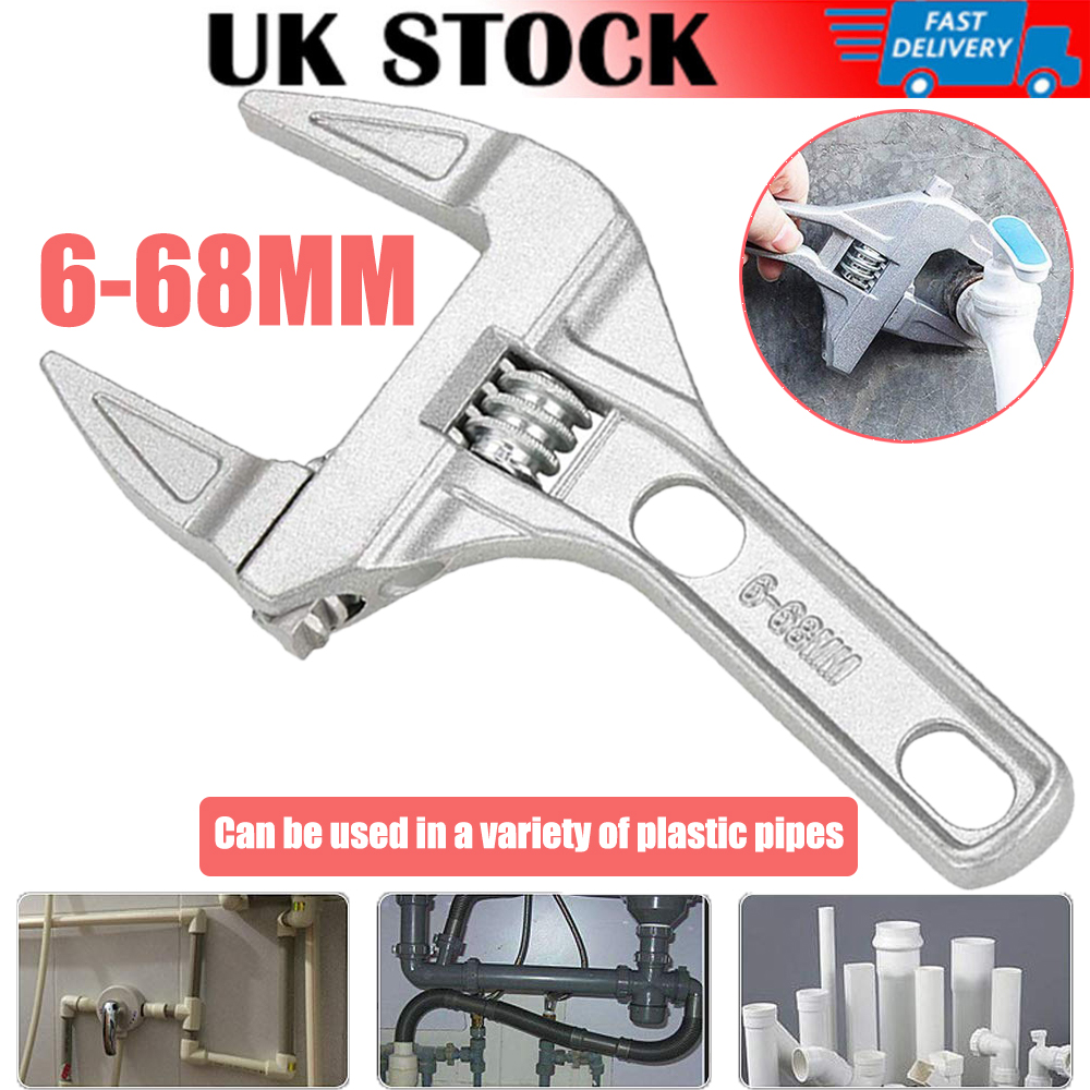 Adjustable Wrench //Spanner 6-68mm Extra Wide Aluminum Plumber Tool