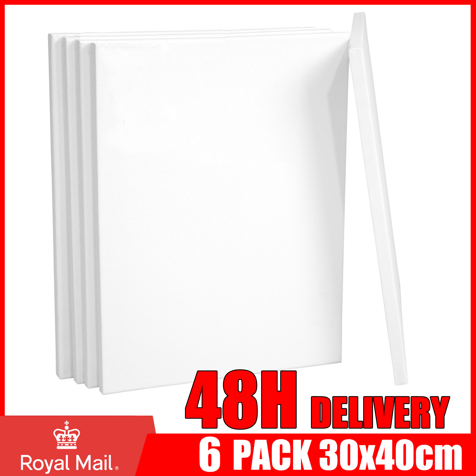 6 Pack Blank Artist Canvas 30x40cm Art Board Plain Oil Painting Stretched Framed Ebay