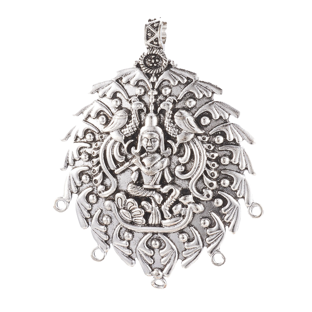 20pcs Tibetan Alloy Filigree Charm Connectors 1//1 Loop Antique Silver Links 28mm