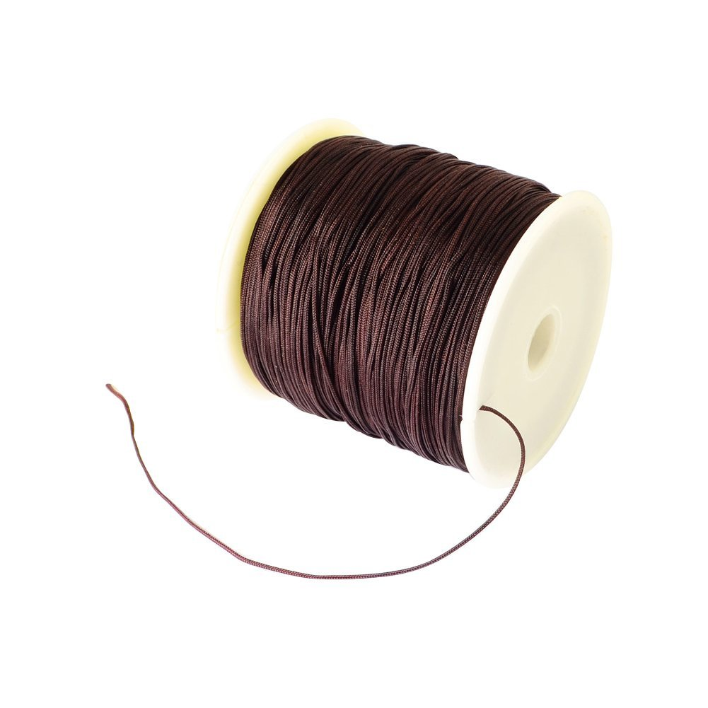 BROWN NYLON POWER SILKY STRING THREAD 0.98mm STRINGING PEARLS /& BEADS GRIFFIN 12