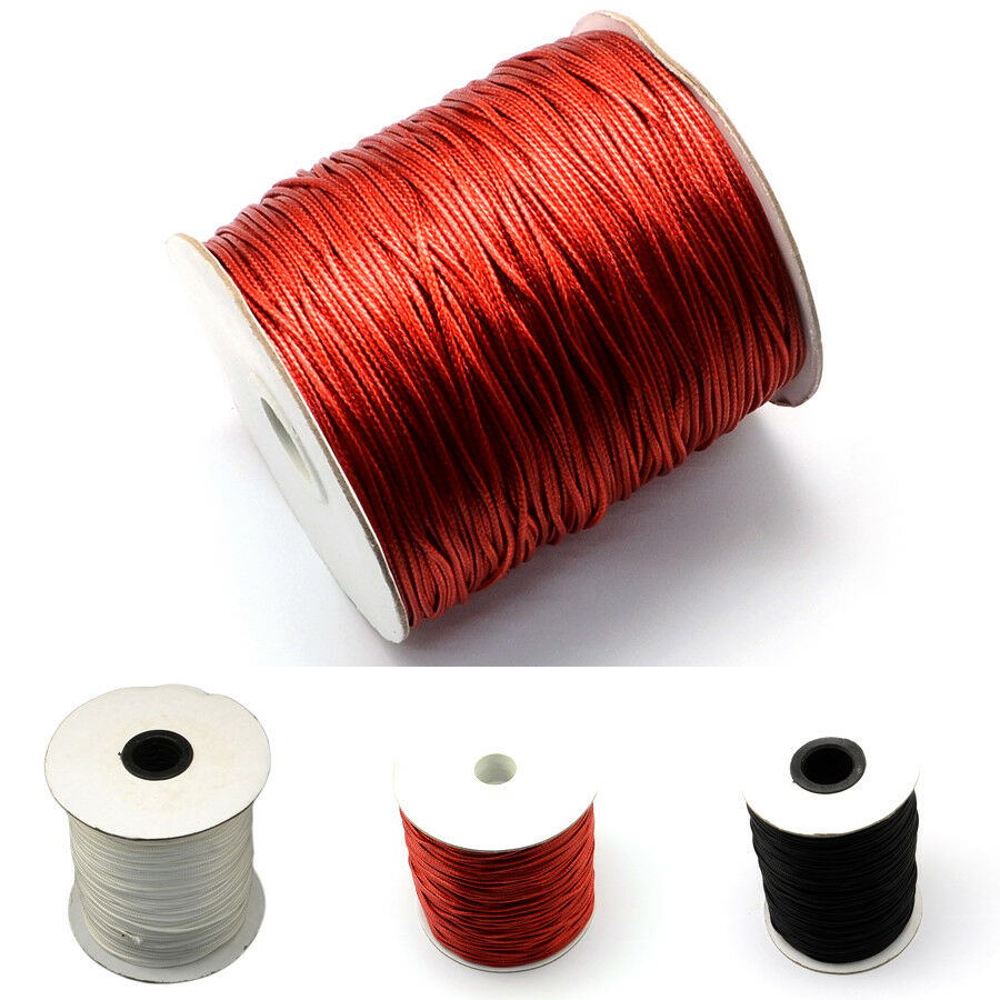 200yards//Roll Strong 1mm Korean Waxed Polyester Cords Beading Stringing Threads