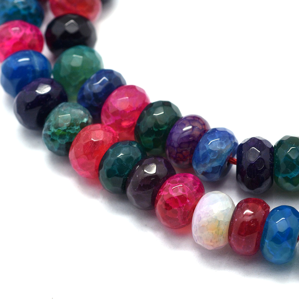 2 Strds Natural Dragon Veins Agate Stone Beads Teardrop Faceted Semi Gems 12x8mm