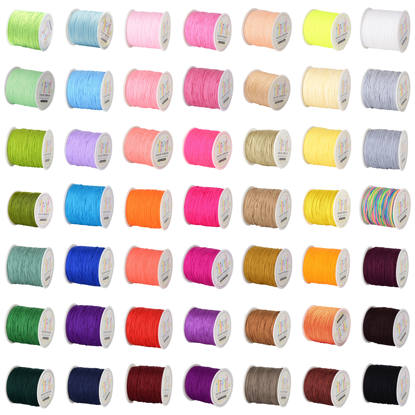 Lt purple or Purple 0.8mm thick nylon cord macrame Beading Kumihimo String 45 Yard Spool Pick Your Color!
