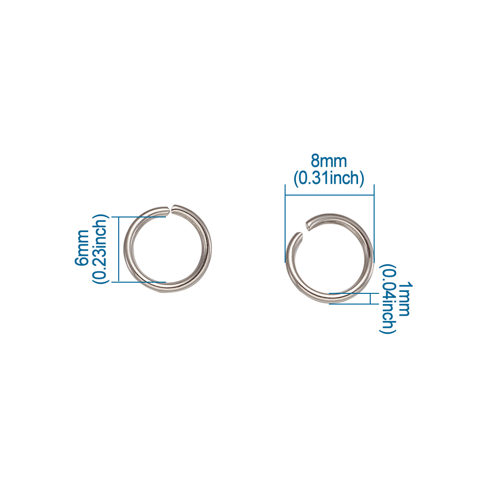 1000pcs-Standard-304-Stainless-Steel-Open-Jump-Rings-Unsoldered-Loop-Pick-4-10mm thumbnail 3