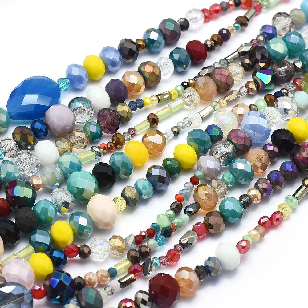 """20 Strand Mix Electroplate Glass Bead 16/"""" Jewelry Making Loose Spacer Craft DIY"""