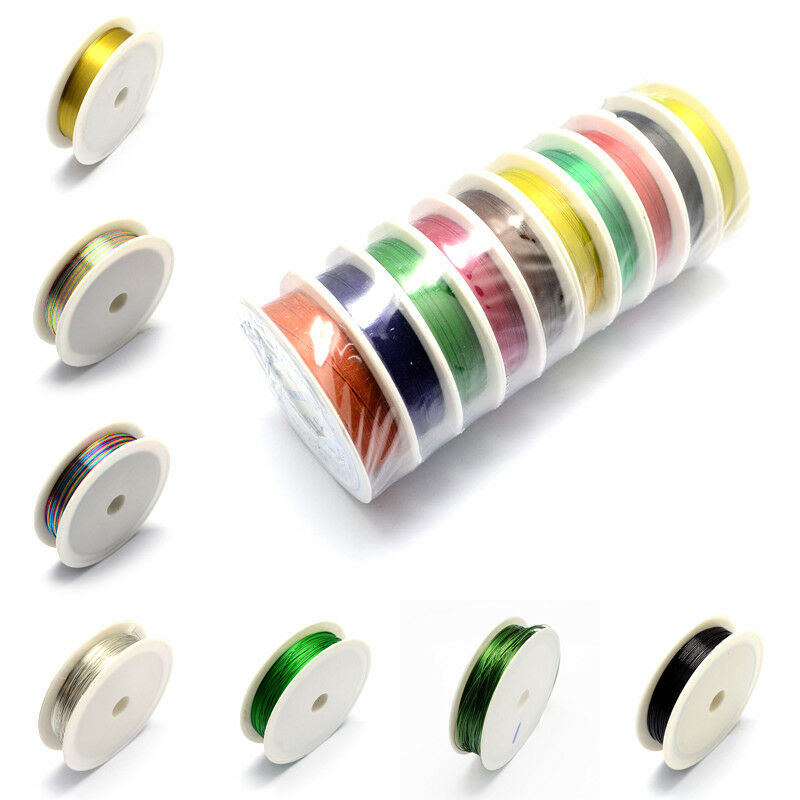 10 Rolls Copper Wire Beading Wrapping Jewelry Hobby DIY String Thread Cord