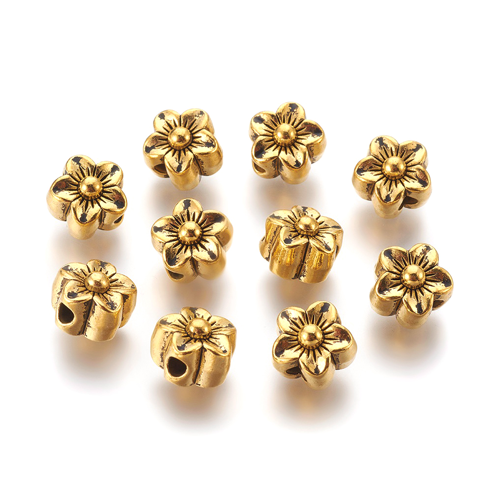20pcs Tibetan Alloy Tube Metal Beads Antique Silver Smooth Loose Spacers 11.5mm