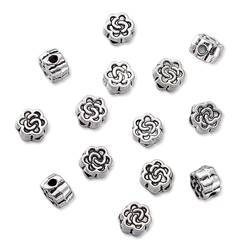 Nickel and Cadmium Free Beads 00 Daisy Silver Metal 5mm Beads Lead