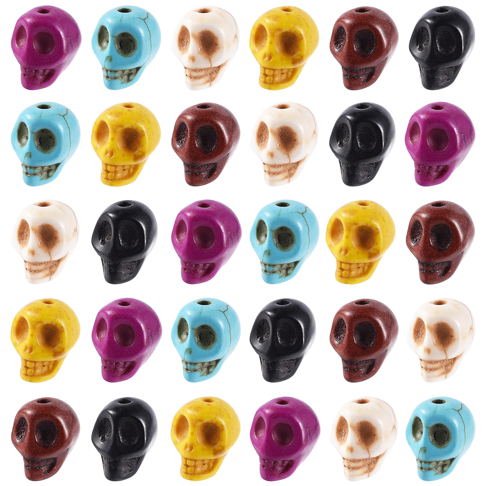 Five Pack of Assorted Howlite Spacer Beads